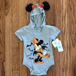 NEW Disney Minnie Mouse Halloween Baby Onesie